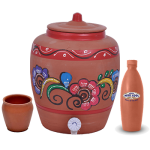 combo-offer-glazed-glass-set-200-ml-6-pieces-clay-water-bottle-1-lit-earthen-water-pot-10-lit-1 copy