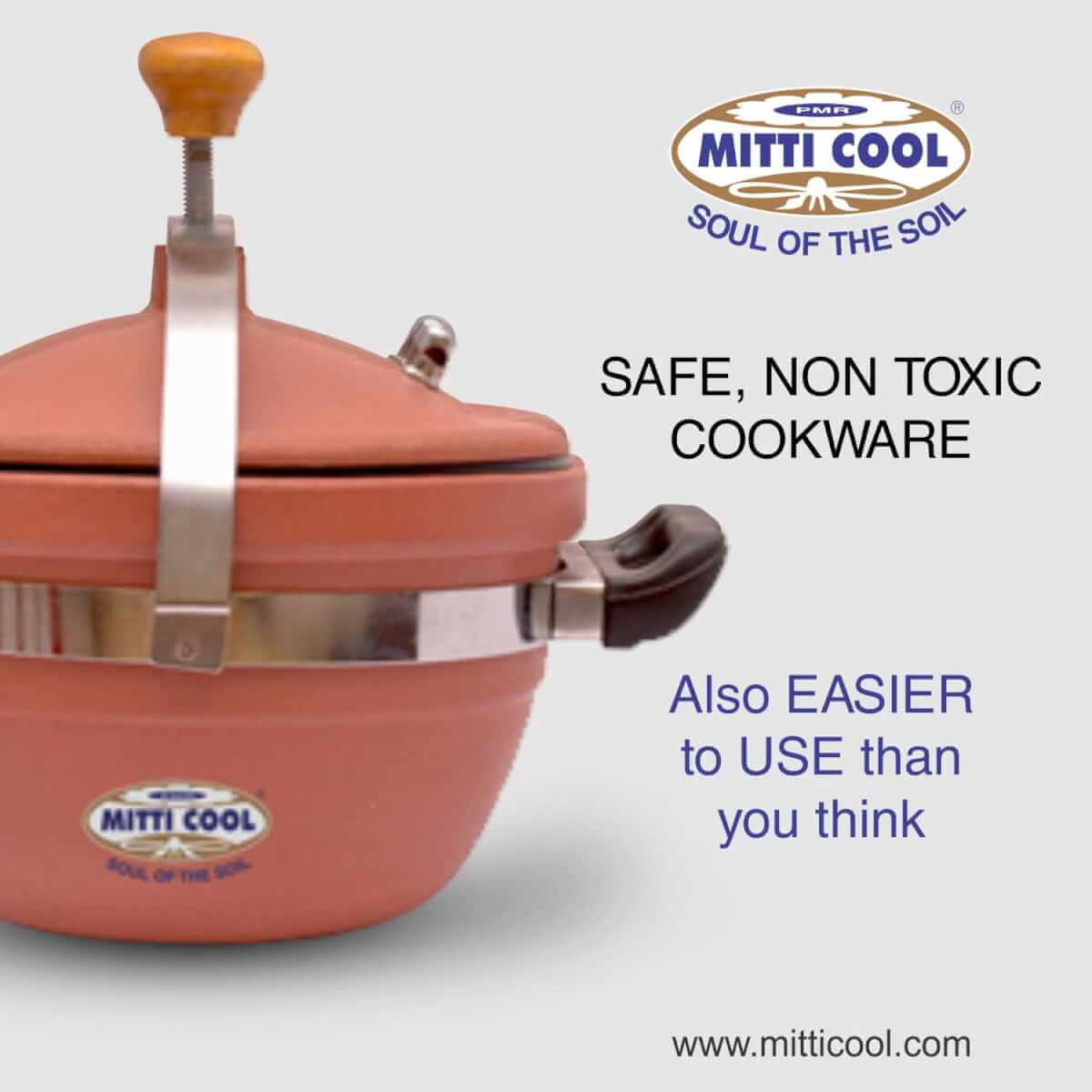 Mitticool Clay Cooker 3 Liters For Cooking Buy Online Mitticool Com