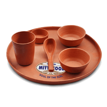 Earthen Clay Glazed Glass Set 200 Ml Buy Online Clay Products